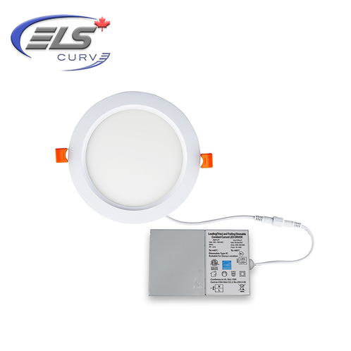 "ELS Canada - Curve Series 6"" LED 16 Watt Recessed Downlight 1650 Lumens 85+CRI"