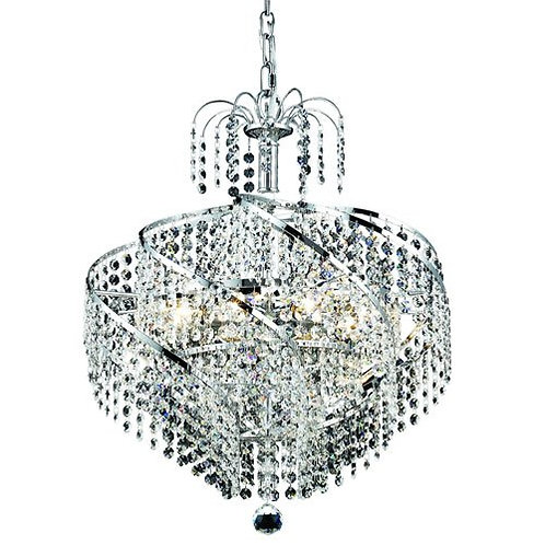 Elegant Lighting Royal Cut Clear Crystal Spiral 8-Light, Single-Tier Crystal