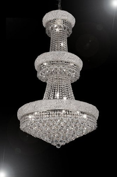 """F.E CRYSTAL CHANDELIER CHANDELIERS H50"""" x W30"""" - PERFECT FOR FOYER"""