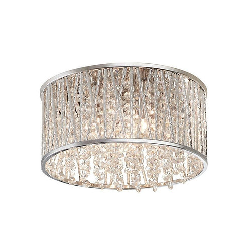 Trans Globe Lighting - MDN-1145 - Woven -3 Light Flush Mount