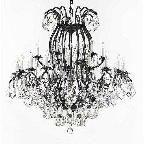 Swarovski Crystal Trimmed Chandelier Wrought Iron Crystal Chandelier Lighting