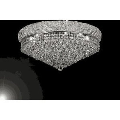"FRENCH EMPIRE CRYSTAL FLUSH CHANDELIER LIGHTING H16"" W30"" - Empress Crystal(TM)"