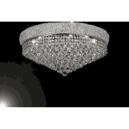 "FRENCH EMPIRE CRYSTAL FLUSH CHANDELIER LIGHTING H16"" W30"" - Empress Crystal(TM)"