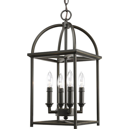 Progress Lighting  4 Light Piedmont Foyer Lantern, Antique Bronze