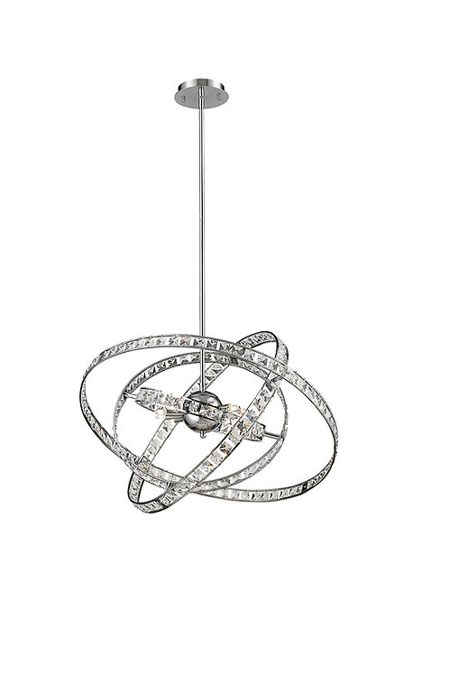 "Elk Lighting - 24 x 29-1/2"" Saturn 6-Light Crystal Chandelier"