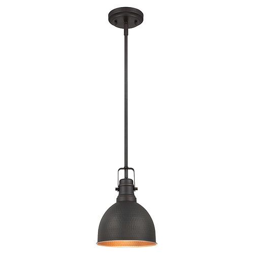 Westinghouse Solid Stem One-Light Mini Pendant Industrial Hammer