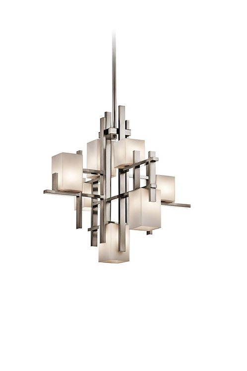 Kichler Lighting -  City Lights 7-Light Chandelier, Classic Pewter Finish