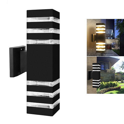 Outdoor Wall Sconce LED Lights-Modern Waterproof Up Down Aluminum Cylinder LED W