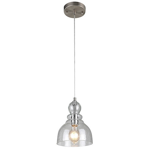 Westinghouse Industrial One-Light Adjustable Mini Pendant with Handblown