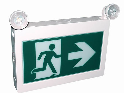 Running Man / Exit Sign with optional 2 Heads | 45 Min. Battery backup