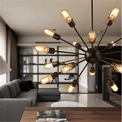 Black Starr - 18 Light Edison Chandelier / Semi-Flush mount