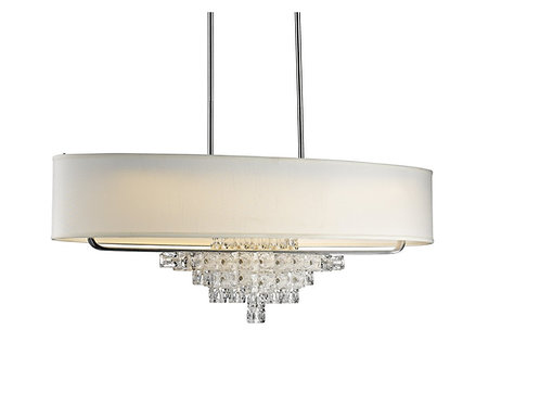 "Crystorama Lighting - Addison - 42"" Six Light Chandelier, Polished Chrome Finish"