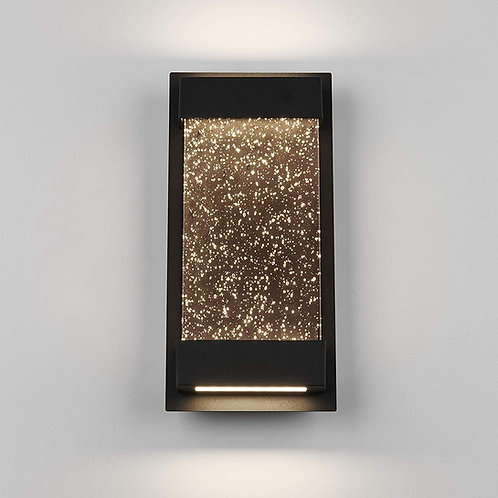 "Artika - 6"" Modern Wall Mount Weather Resistant Outdoor Light, Black"