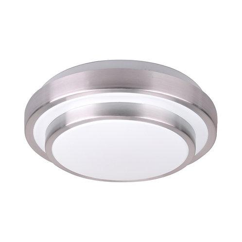 """Modern Round Aluminum Acrylic LED Flush Mount 11"""" 15w 1500lm"""