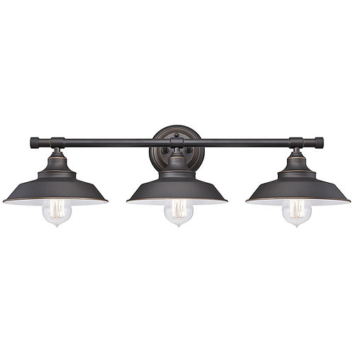 Westinghouse Iron Hill Three-Light Indoor Wall Fixture,Oil Rubbed Bronze