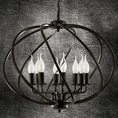 "22"" Swirl Globe Light Vintage/ Modern-Retro"