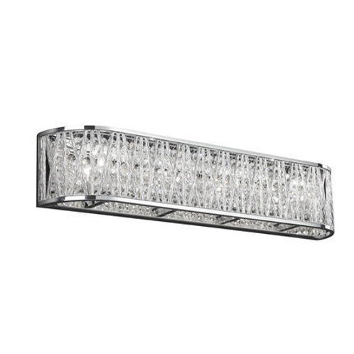 Dainolite Lighting - Crystal /Chrome Finish 4-Light Vanity