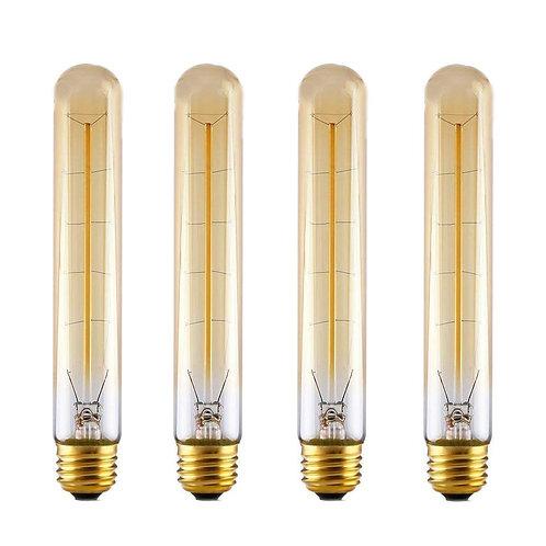 Decorative Filament Light T185 110V 40W Vintage Incandescent Edison - 4 Pack