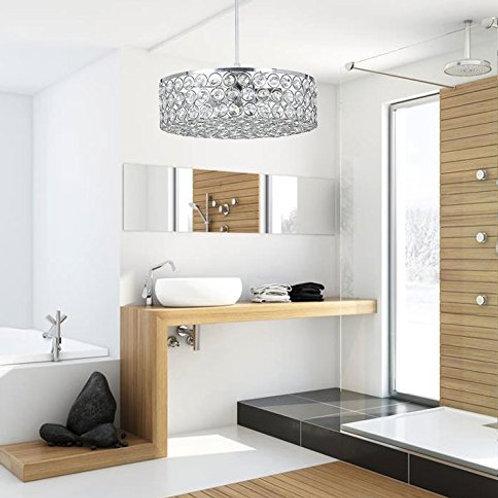 "House of Hampton - Crystal Modern Ceiling Pendant Light Fixture 10.2"" Round"