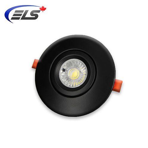 "ELS Canada - Eclipse | 4"" Black Round gimbal Recessed Light 9W 800 Lumens"