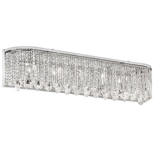 Dainolite Lighting -  Crystal /Chrome Finish 5-Light Vanity 31""