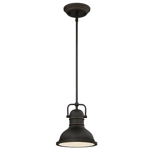 Westinghouse - One-Light LED Indoor Mini Pendant, Oil Rubbed Bronze Finish