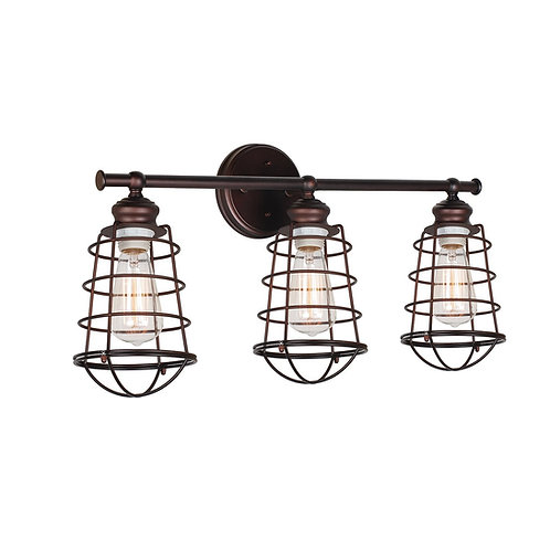 Retro Ajax 3 Light Vanity Light fixture, Bronze
