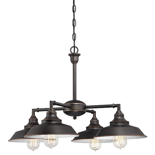Westinghouse Iron Hill Four-Light Indoor Convertible Chandelier/Semi-Flush