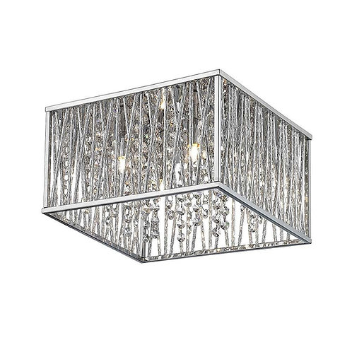 Trans Globe Lighting 4-Light Chrome Flush Mount