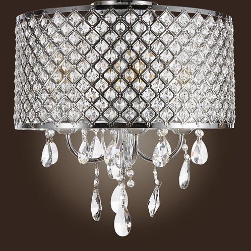 M. Stallion Crystal Chandelier - Flush Mount Fixture 4 lights
