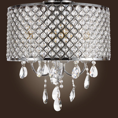 M stallion crystal chandelier flush mount fixture 4 lights m stallion crystal chandelier flush mount fixture 4 lights aloadofball Choice Image
