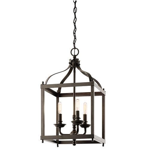 Kichler Lighting Larkin 3-Light Foyer Pendant, Olde Bronze Finish