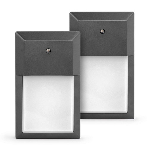 2 Pack - Modern LED Frosted Lens | 1000 Lumens Wheatherproof Wall Sconce