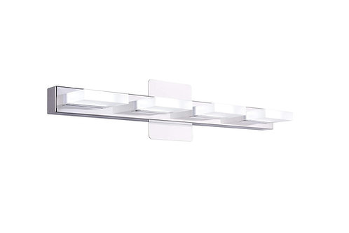 "Mire - 24"" 4 Light Stainless steel Modern LED Vanity Light (5000K/Cool White)"