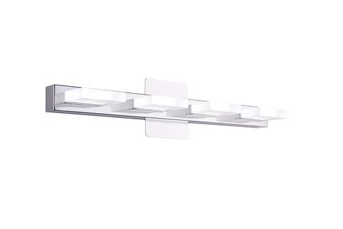 """Mire - 24"""" 4 Light Stainless steel Modern LED Vanity Light (5000K/Cool White)"""