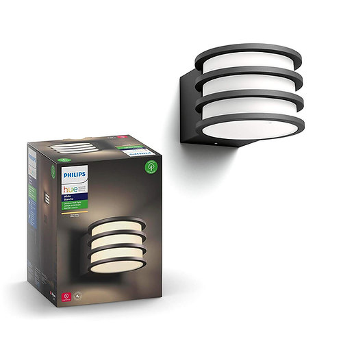 Philips Hue - White Lucca Outdoor Wall Sconce | Smart Tech. Compatibility