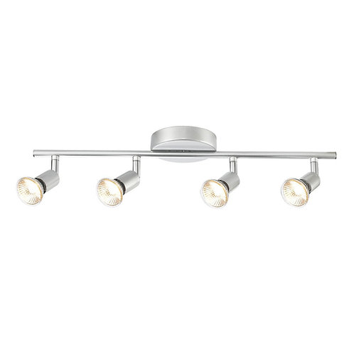 Globe Electric 58932 Payton 4 Adjustable Track Kit Light Bar, Brushed Silver