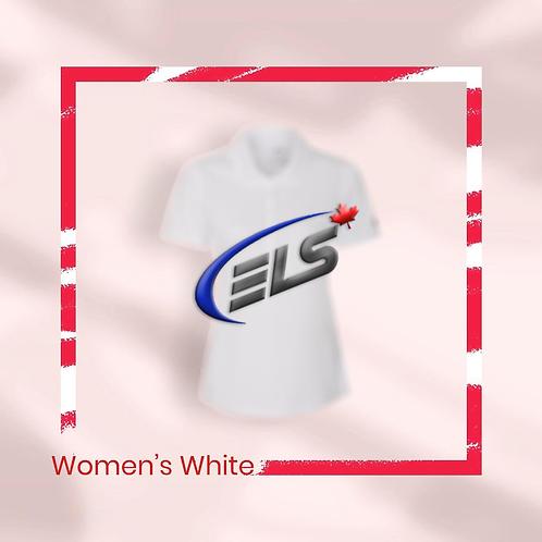 Women's Pearl White Callaway x ELS Canada Polo Shirt