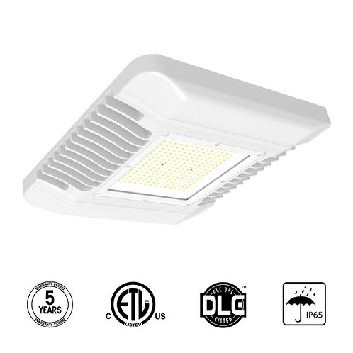 "LED Canopy Light, 75W(300 HID/HPS Equivalent)-120Lm/W, 14.96"" x 14.96"", 5000K"