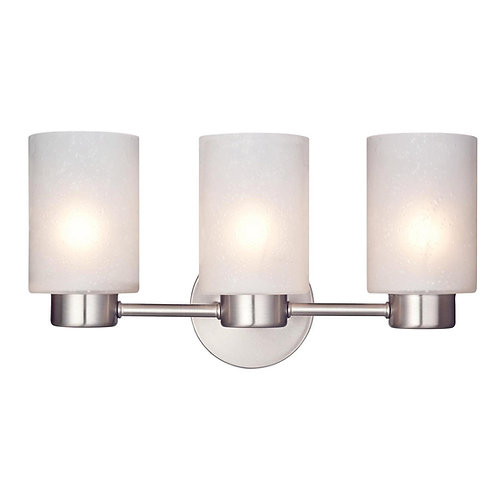 Westinghouse 6227900 Sylvestre Three-Light Interior Wall Fixture, Brushed Nickel