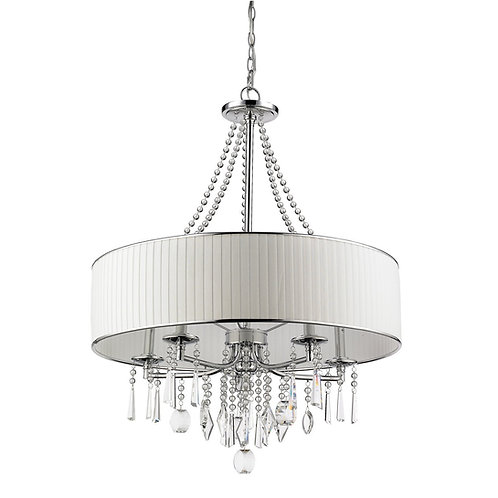 Ecopower Lighting Crystal & Metal Round Pendant Lighting - Chandelier Claxy