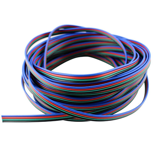 64 Ft.- 22 Awg RGB Wire, 4 pin, Extension Cable Line for LED Strip RGB 5050
