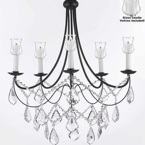 Crystal Chandelier Candle votive lighting - Indoor-outdoor