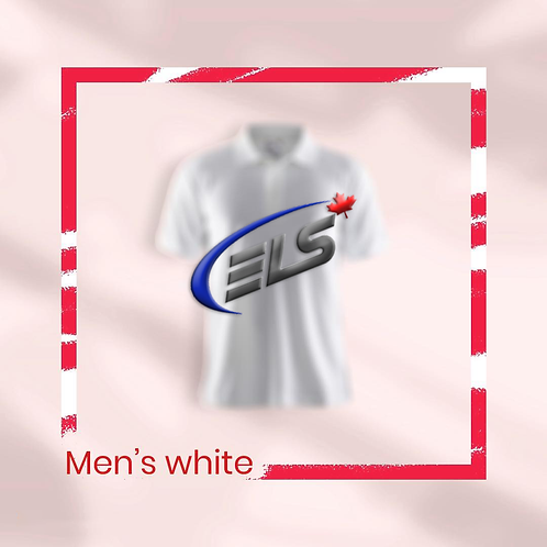 Men's Pearl White Callaway x ELS Canada Polo Shirt