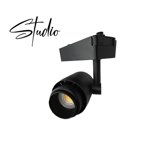 Studio - Matte Black Adjustable LED Track Light Head