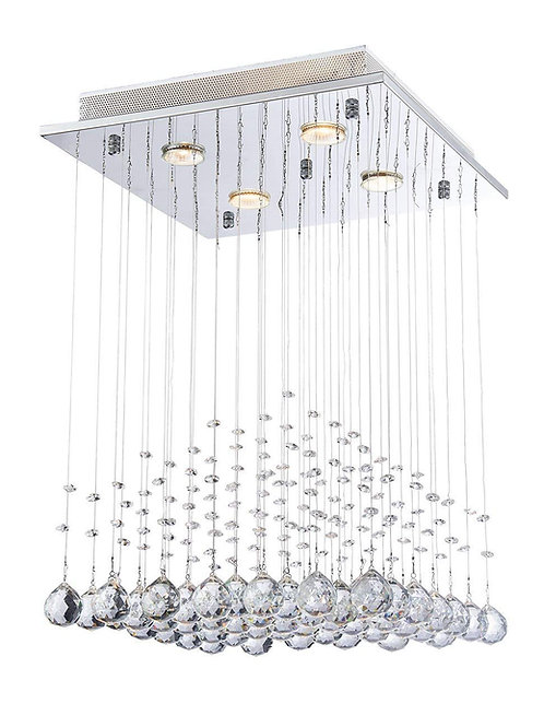 S.M - Modern Crystal Raindrop Chandelier Sq