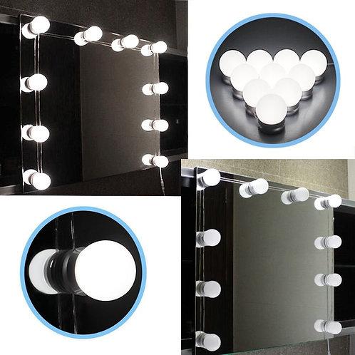 Hollywood style Makeup mirror 10 light 4000k (daylight white) globe lights