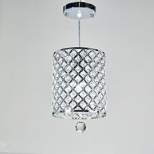 Chevalier - Contemporary Crystal Drop Pendant Light in Cylinder Style