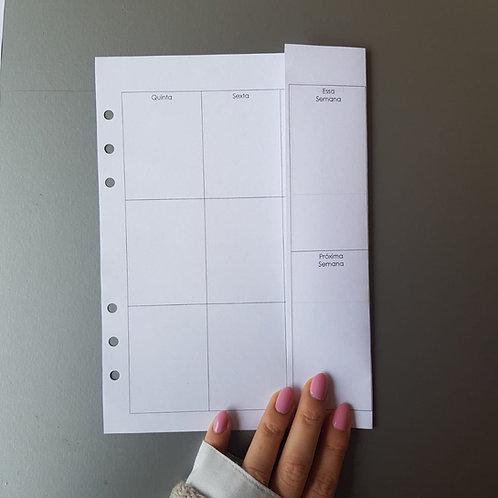 [A5] Semana em duas páginas vertical com dobra
