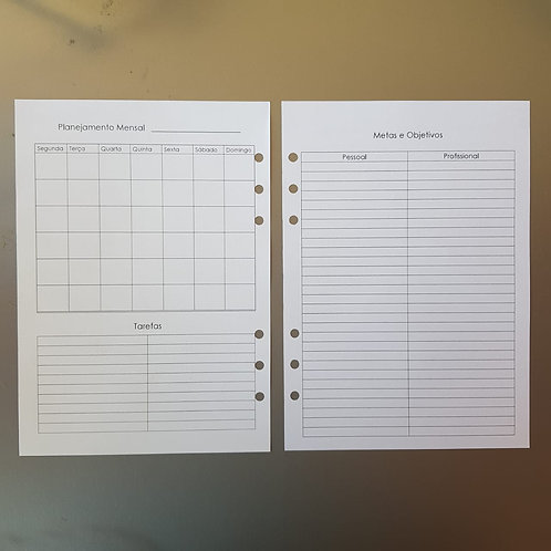 [A5] Planejamento mensal de metas e objetivos em A5